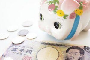貯金箱とお金画像