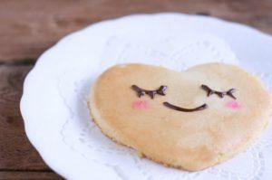 ハートのパンケーキ画像